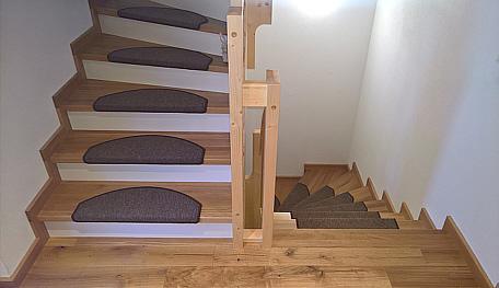 Halbgewendelte Treppe treppen stufenbelegung zimmerei treppenbau jenn